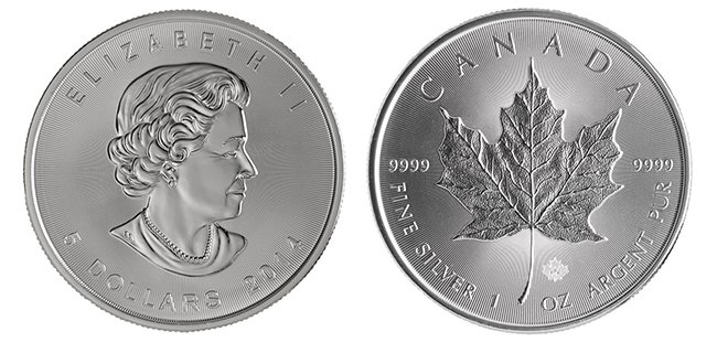 Silver Canadian Maple Leaf - 1 oz