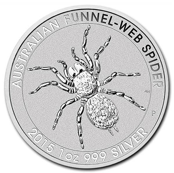 Australian Funnel Web Spider  - 1 Troy Oz .999 Silver