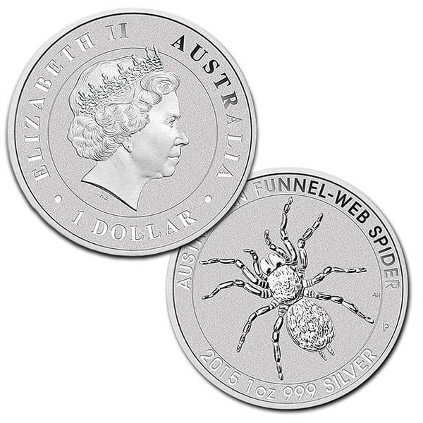 Australian Funnel Web Spider  - 1 Troy Oz .999 Silver thumbnail