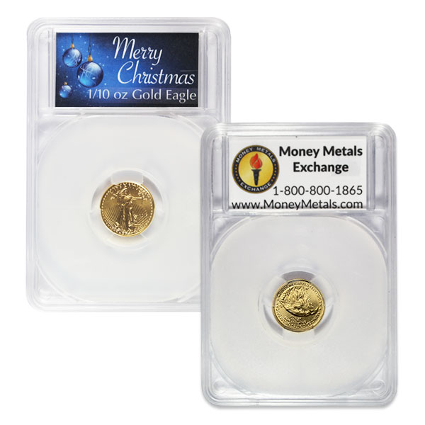1/10th Oz Gold American Eagle - IN MERRY CHRISTMAS CAPSULE