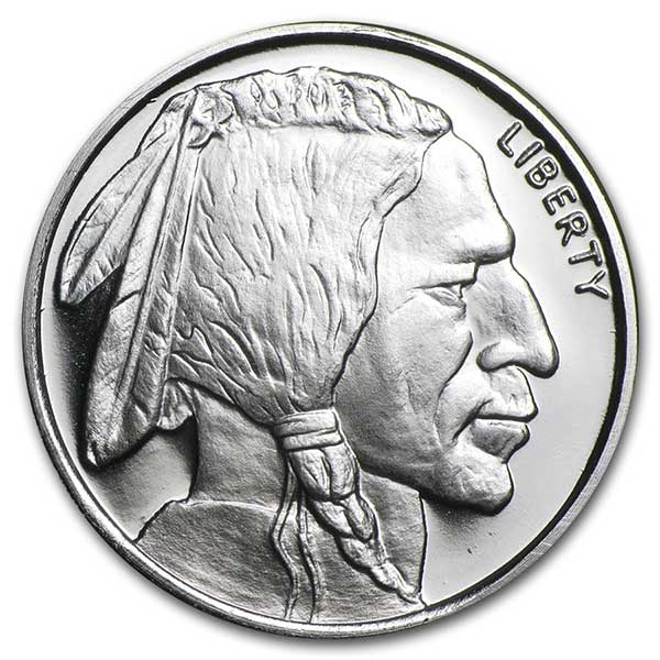 1/2 Troy Ounce Buffalo SILVER Round, .999 Pure