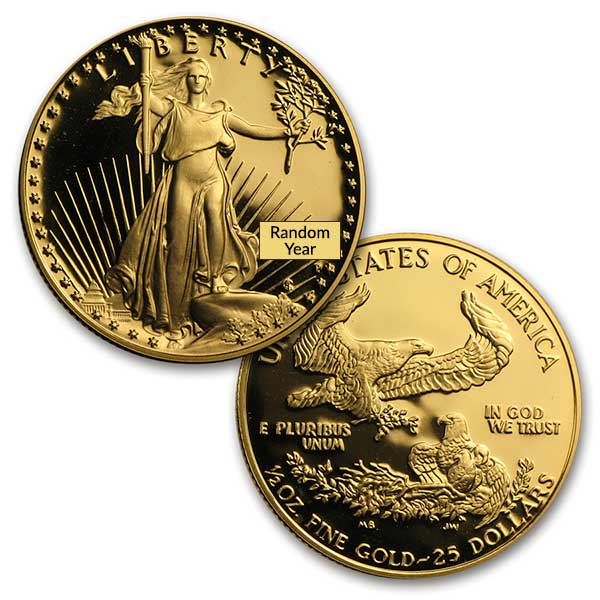 Proof Gold Eagle Set (1 oz, 1/2-oz) thumbnail