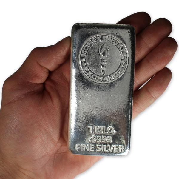 Silver Bar - 1 Kilo (32.151 troy ozs), .999 Pure thumbnail