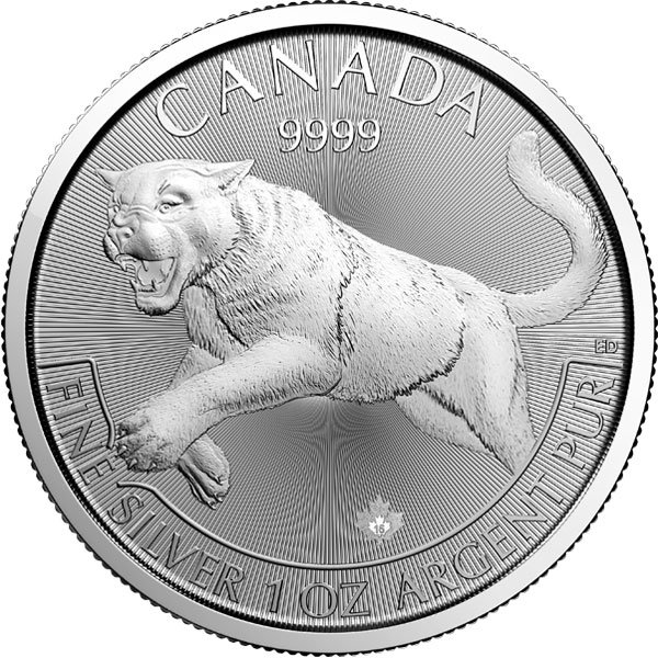 Canadian Predator Series - 2016 COUGAR, 1 Troy Oz, .9999 Silver