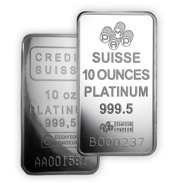 Platinum Bar - 10 Ounce