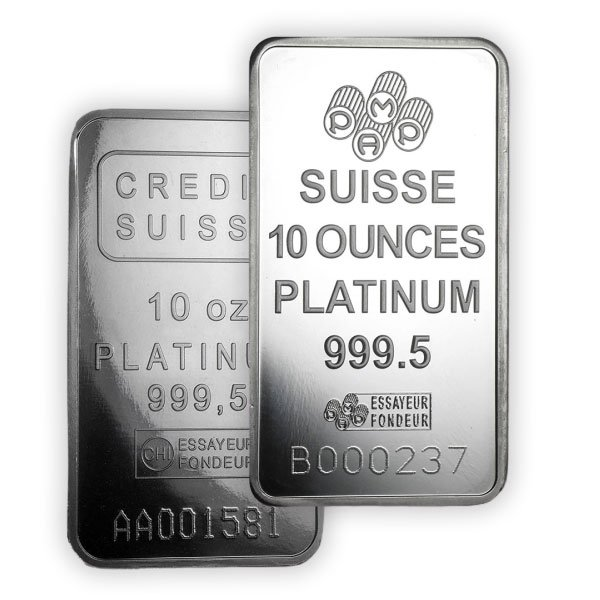 Platinum Bar - 10 Ounce thumbnail