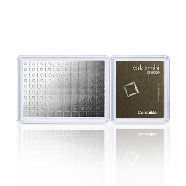 Silver Valcambi CombiBar - 100 Gram .999 Pure thumbnail