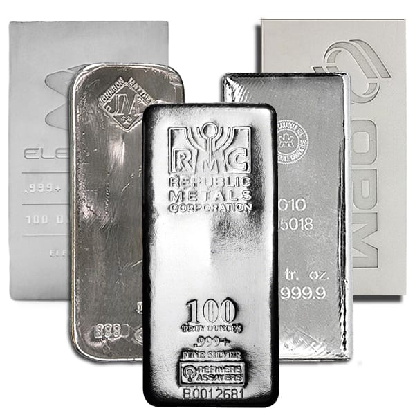 100 Oz Silver Bar Low Silver Bar Prices Money Metals