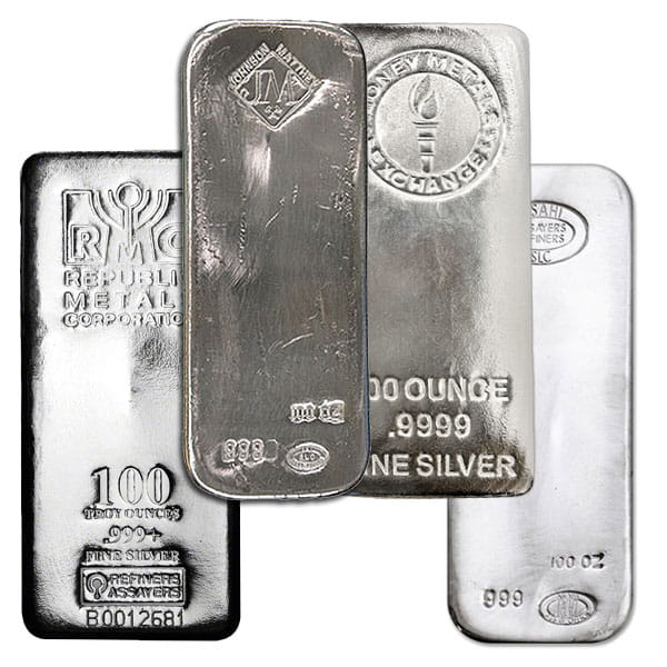 Silver Bar - 100 Ounce .999 Pure