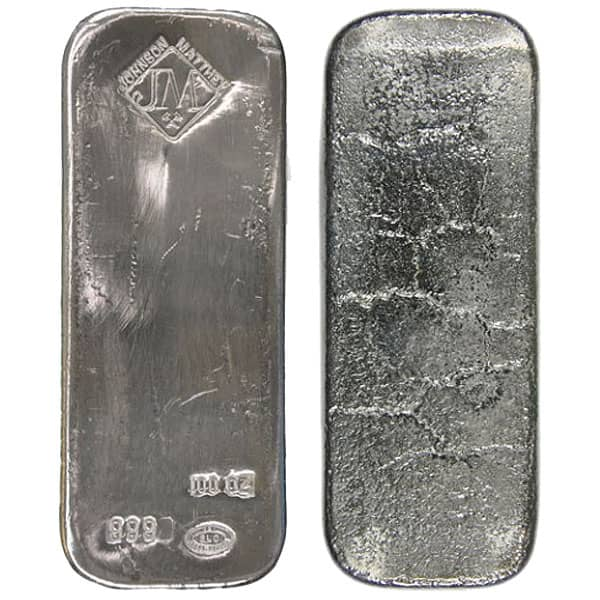 100 Oz Silver bar thumbnail