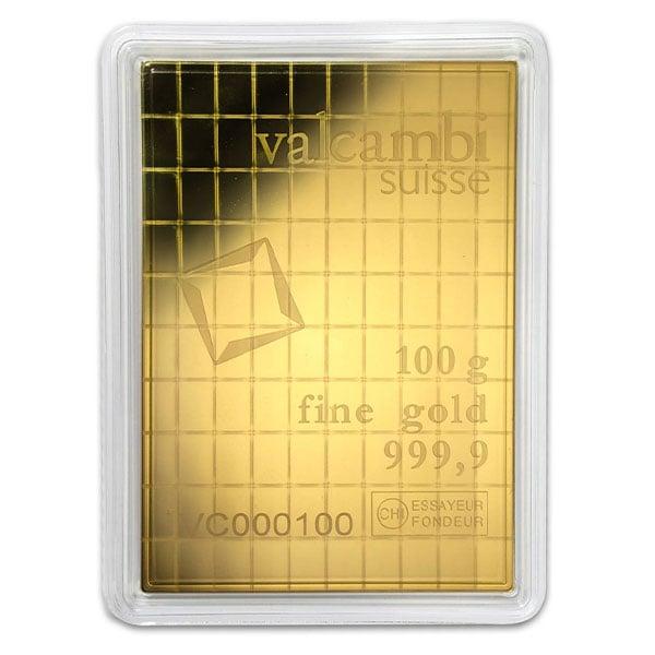 Valcambi CombiBar - 100 x 1 Gram .9999 Gold (3.215 troy Oz) thumbnail