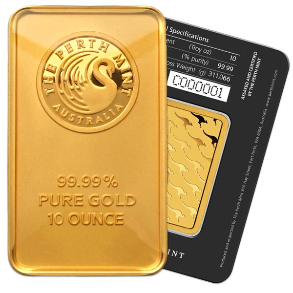 10 Oz Gold Bars thumbnail