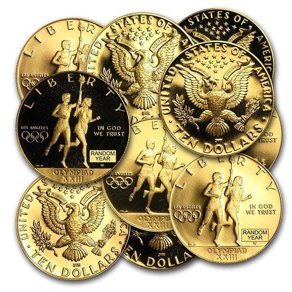 $10.00 U.S. Mint Commemorative Coin, 0.4838 Troy Oz Gold
