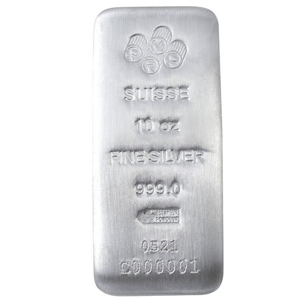 PAMP Suisse 10 Ounce Bar, .999 Pure Silver