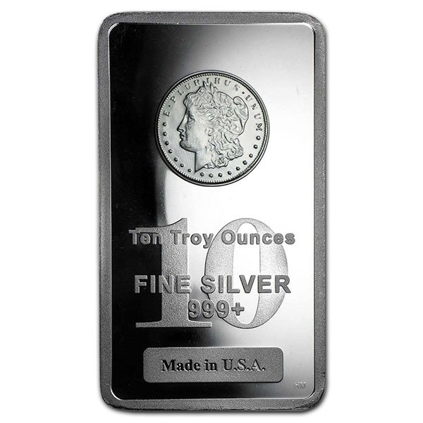 Morgan Design Silver Bar - 10 Ounce .999 Pure