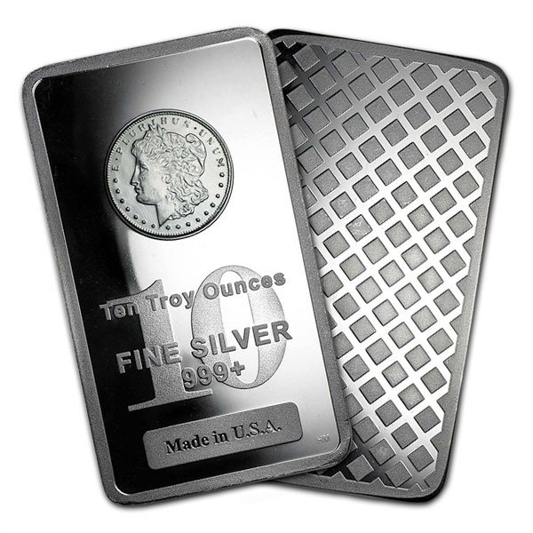 Morgan Design Silver Bar - 10 Ounce .999 Pure thumbnail