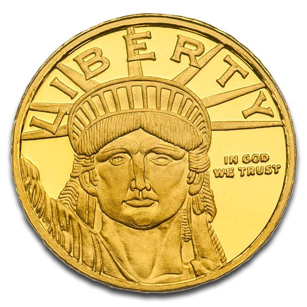1/10th Oz Lady Liberty Round, .9999 Pure Gold