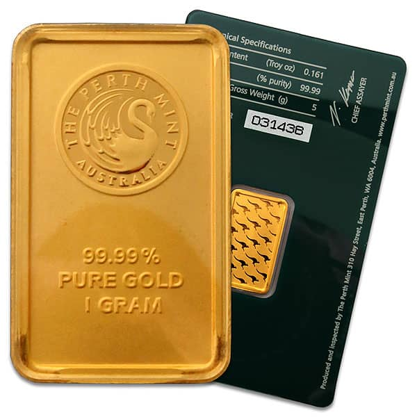 1 Gram Gold Bars Online Of