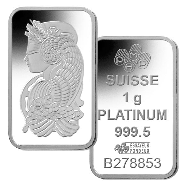 1 Gram Platinum Bars (In Assay) thumbnail