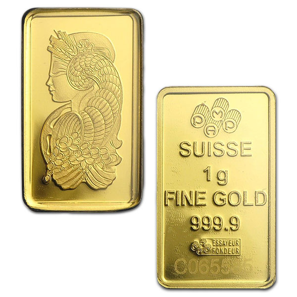 PAMP Suisse Gold Bar, 1 Gram, .9999 Pure (In Assay) thumbnail