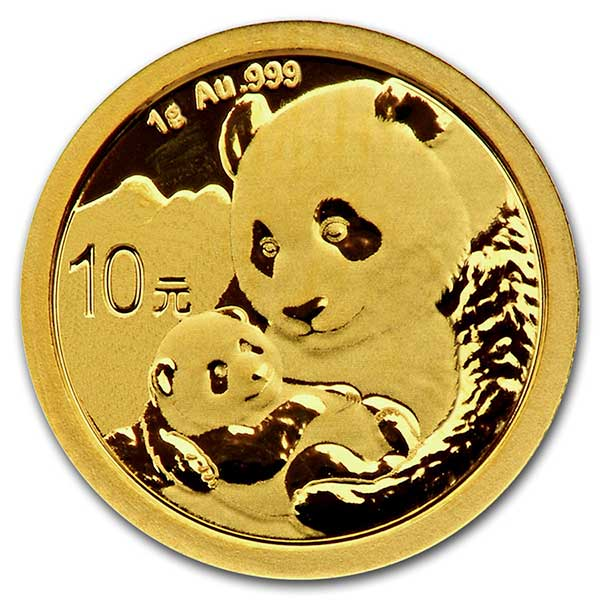1 Gram Gold Chinese Panda Coins for Sale · Money Metals®