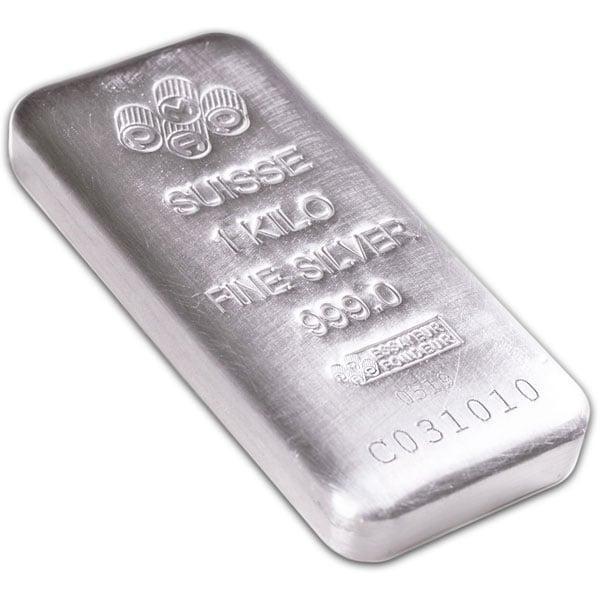 PAMP Suisse 1 Kilo Bar, .999 Pure Silver thumbnail