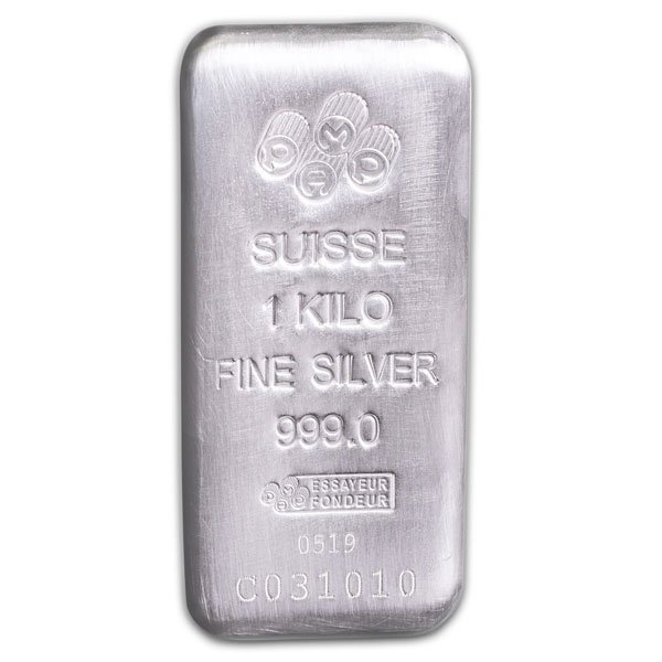 PAMP Suisse 1 Kilo Bar, .999 Pure Silver