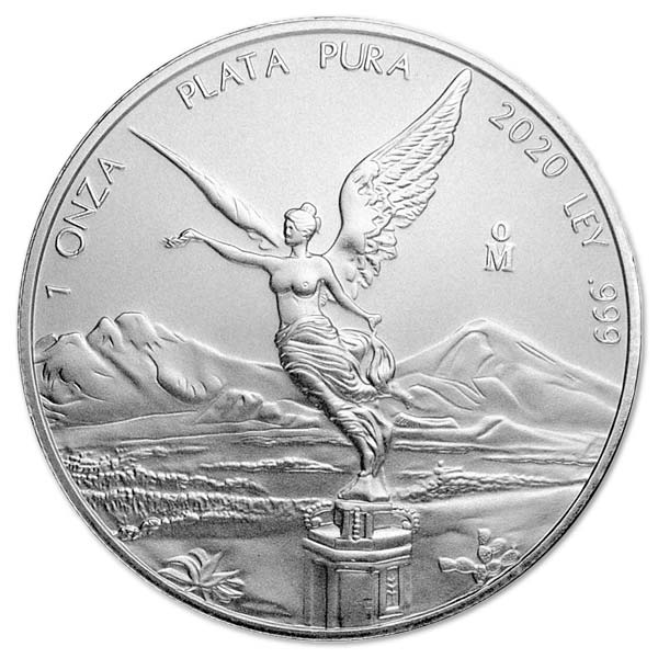 2020 Mexican Libertad - 1 Troy Oz, Pure Silver thumbnail