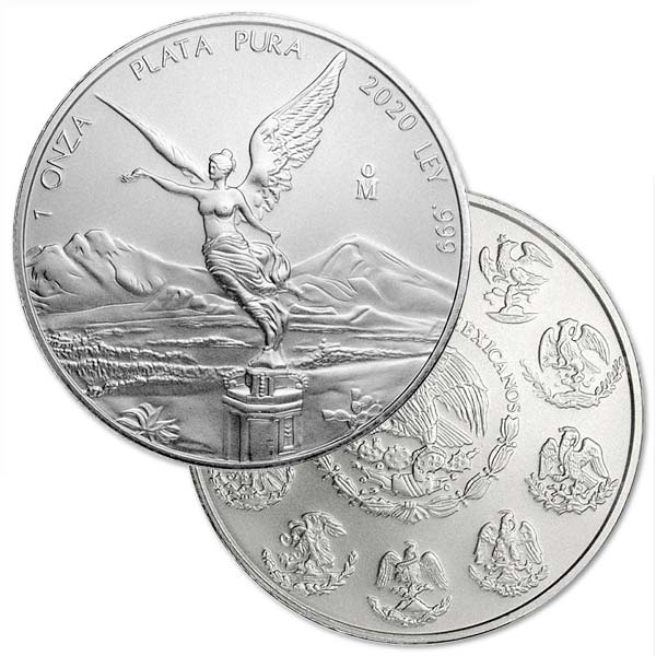 2020 Mexican Libertad - 1 Troy Oz, Pure Silver