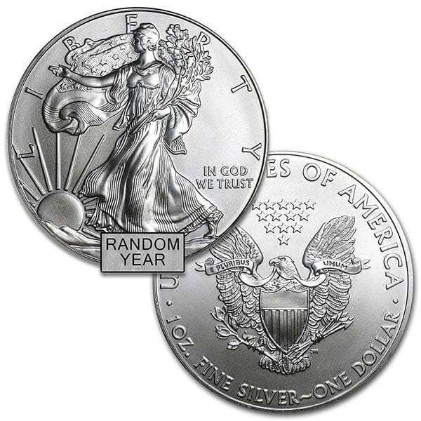 Silver American Eagle - RANDOM Year (Dates our Choice) thumbnail