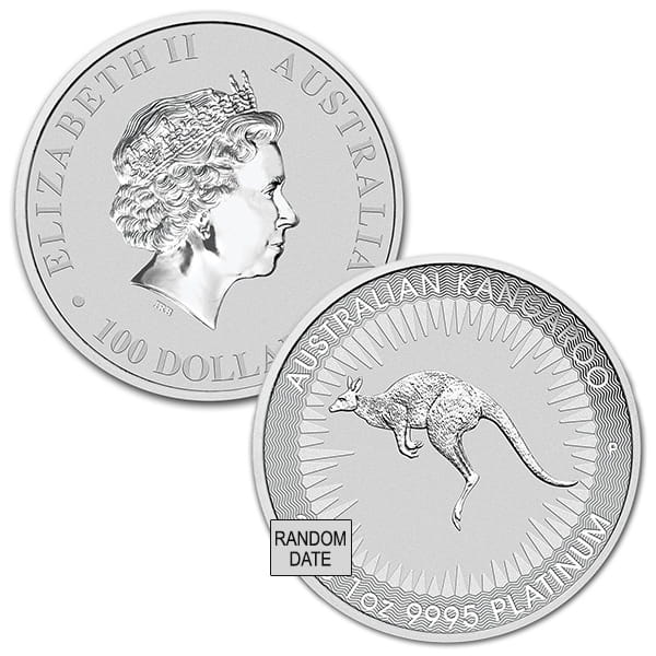 Perth Mint Australia Platinum Kangaroo, 1 Troy Oz., .9995 Pure thumbnail