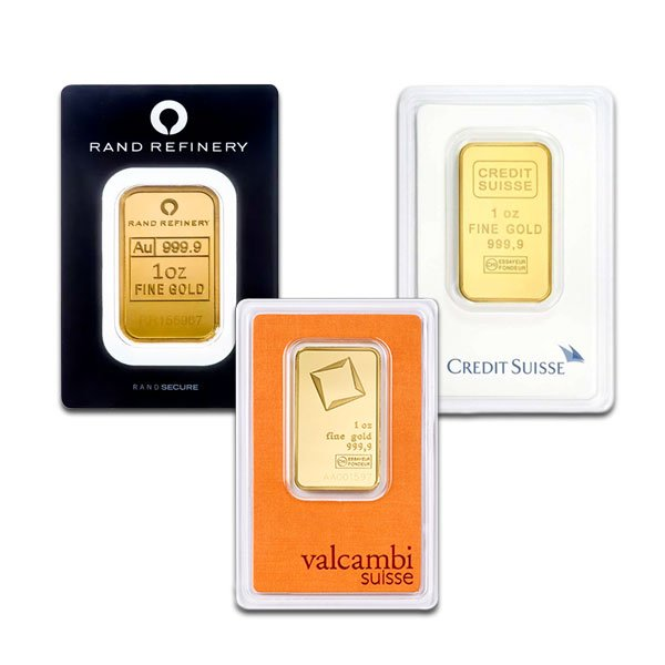 1 Oz Gold Bullion Bars For