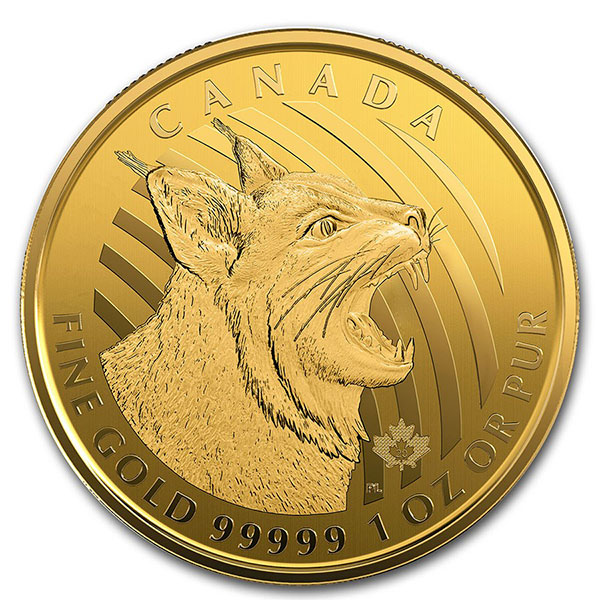 RCM Call of the Wild Bobcat - 1 Troy Oz .99999 Gold