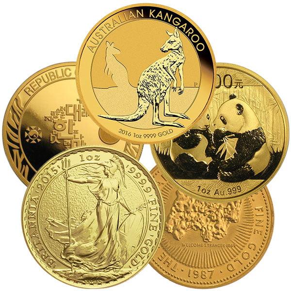 1 Oz Gold Coin - .999 Pure, Random Design
