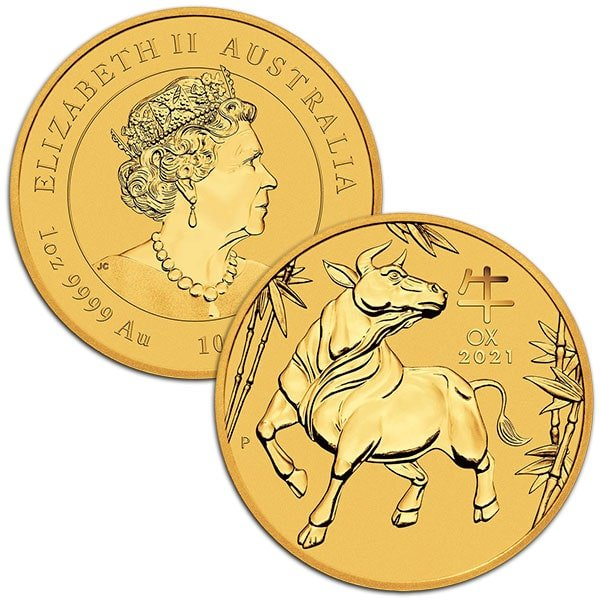 Perth Mint Lunar Series - 2021 Year of the Ox, 1 Oz .9999 Gold thumbnail