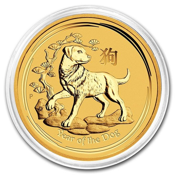 Perth Mint Lunar Series - 2018 Year of the Dog, 1 Oz .9999 Gold thumbnail