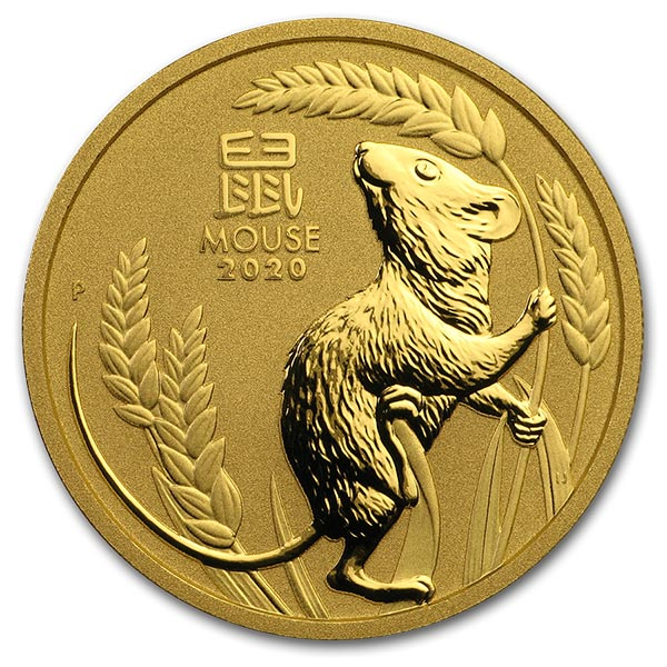 Perth Mint Lunar Series - 2020 Year of the Mouse, 1 Oz .9999 Gold