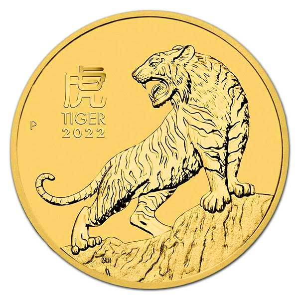 Perth Mint Lunar Series - 2022 Year of the Tiger, 1 Oz .9999 Gold