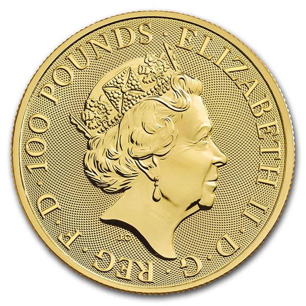 Queen's Beast White Horse - 1 oz .9999 Pure GOLD thumbnail