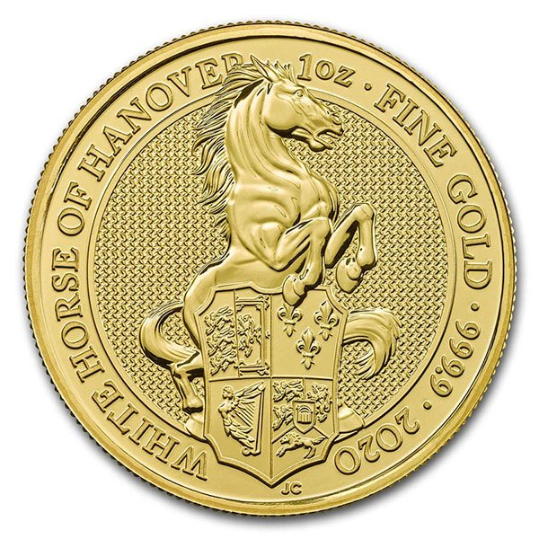 Queen's Beast White Horse - 1 oz .9999 Pure GOLD