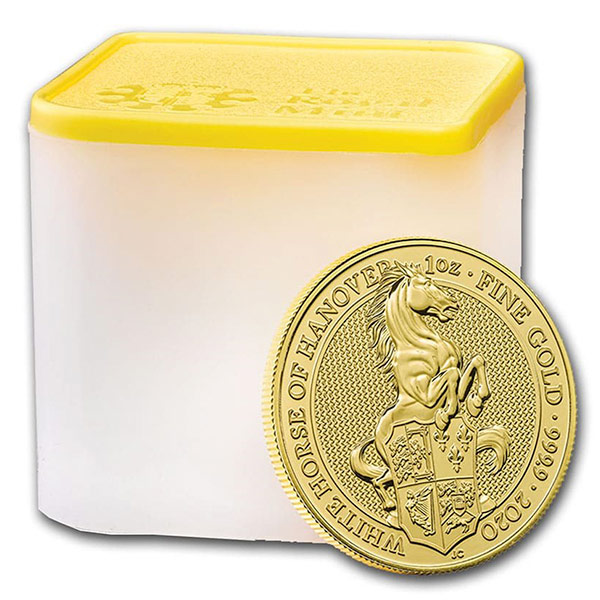 Queen's Beast White Horse - 1 oz .9999 Pure GOLD thumbnail