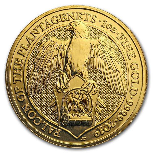 Queen's Beast Falcon - 1 oz .9999 Pure Gold