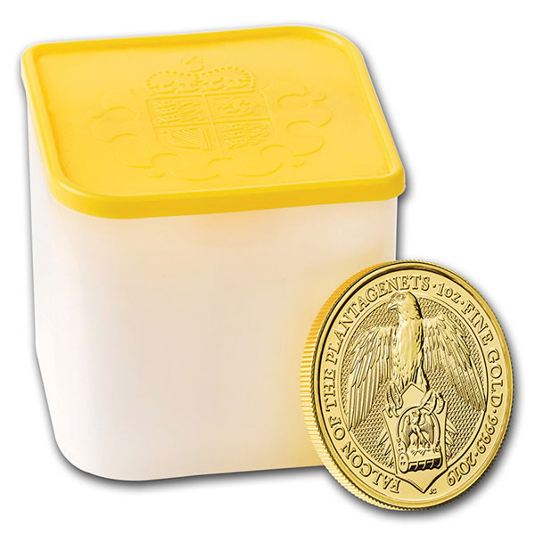 Queen's Beast Falcon - 1 oz .9999 Pure Gold thumbnail
