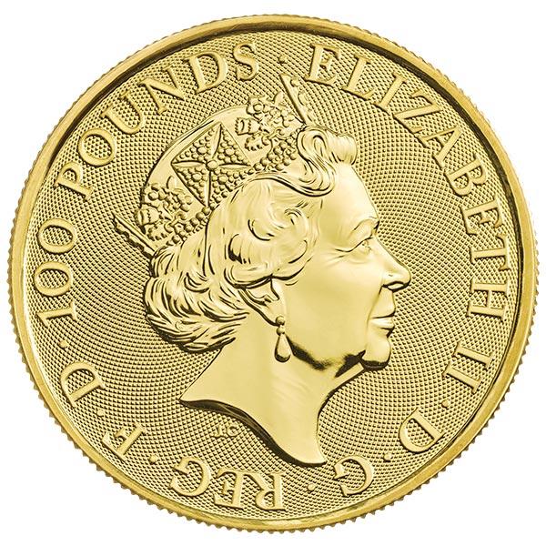 Queen's Beast White Lion - 1 oz .9999 Pure GOLD thumbnail