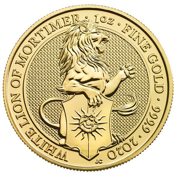 Queen's Beast White Lion - 1 oz .9999 Pure GOLD