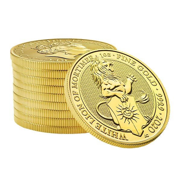 Queen's Beast White Lion - 1 oz .9999 Pure GOLD thumbnail