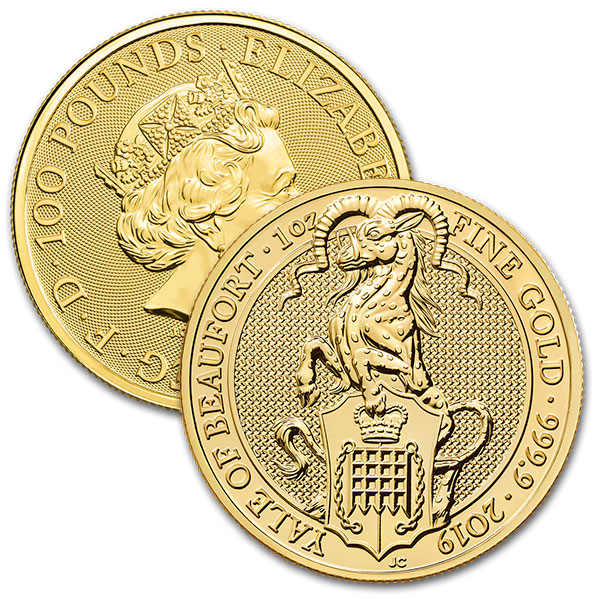 Queen's Beast Yale - 1 oz .9999 Pure Gold thumbnail