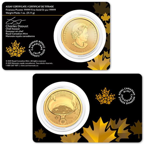 Klondike Gold Rush Series - Panning for Gold, 1 Oz .99999 Fine in Assay thumbnail