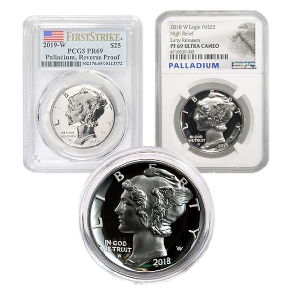 Palladium American Eagle, 1 Oz., .9995 Pure