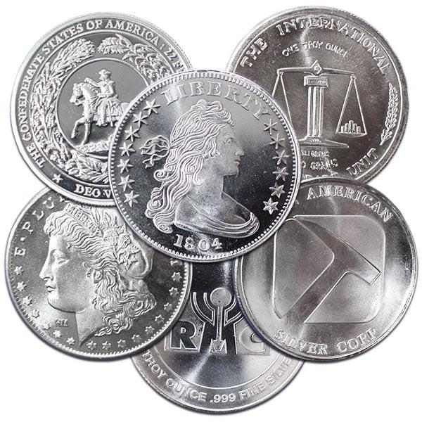 Silver Round - Random Design - 1 Oz .999 fine silver